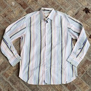 Tommy Bahama colorful button down shirt small